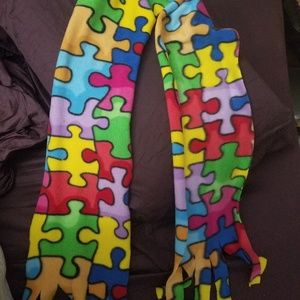 Autism theme  scarf